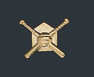 Crossed Bats Baseball Letter Pin 110