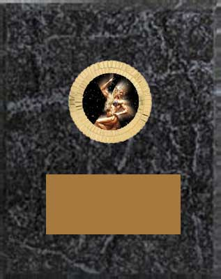 Black Marble Finish Women's Bodybuilding Plaque Award