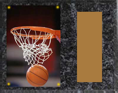 Image Basketball Plaque H Series in black marble finish