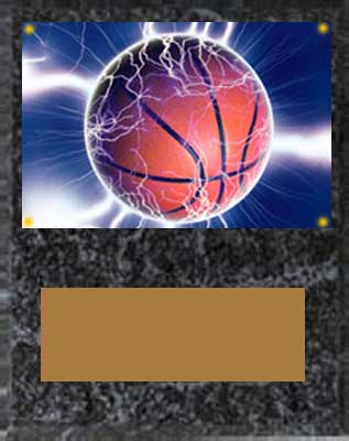 Image Basketball Plaque V series in black marble finish