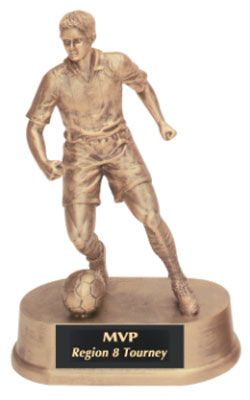 Boys and Girls Soccer Resin Trophy Statue