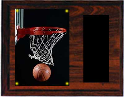 Image Basketball Plaque H series in cherry finish