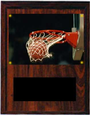Image Basketball Plaque V series in cherry finish
