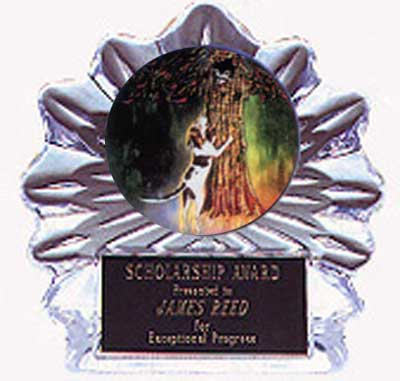 Acrylic Flame Ice Coon Hunt Trophy Award