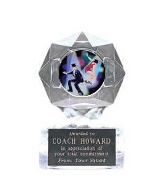 Acrylic Star Ice Dance Trophy Award