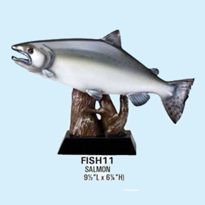 Resin Fishing Trophy, Salmon