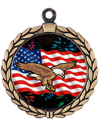 Patriotic Flag Medal