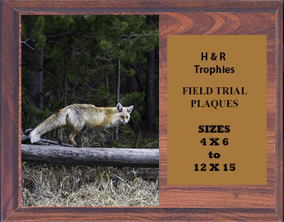H Series Cherry Finish Fox & Coyote Plaques