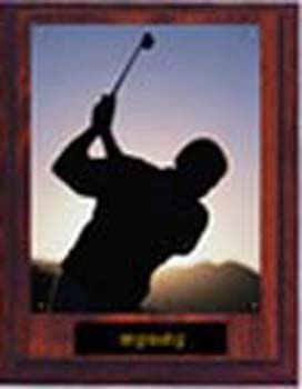 N Style Cherry Finish Image Golf Plaque
