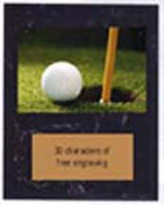 V Style Black Marble Finish Golf Plaque