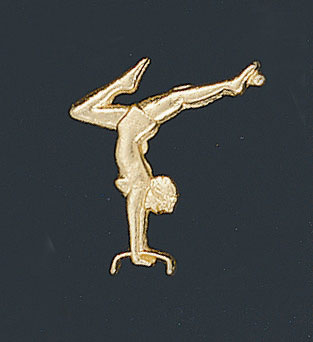 Gymnastic letter pins in male and female, as low as 49 cents