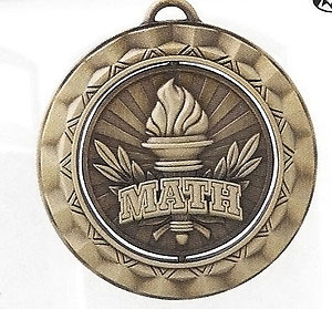 SP360 Spinning Math Medal with Six Pricing Options