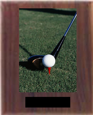 N Style Solid Walnut Golf Plaque