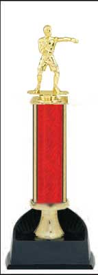 Boxing Trophy, Wrestling Trophy, Single Round Column
