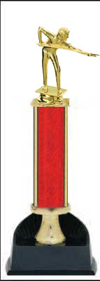 Billiard Single Column Trophy