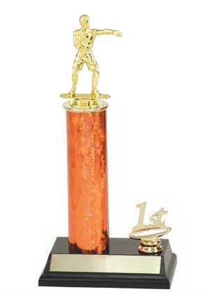 Boxing Trophies, Wrestling Trophies, Single Round Column, Riser, Trim Figure