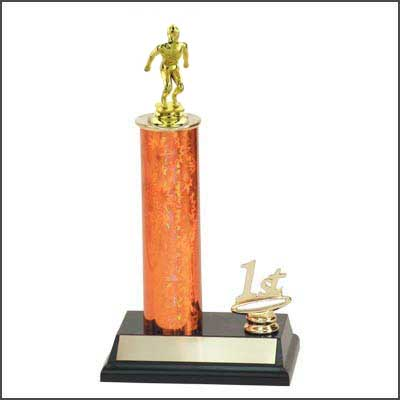 R2 Swimming Trophies with a single round column, and added trim.