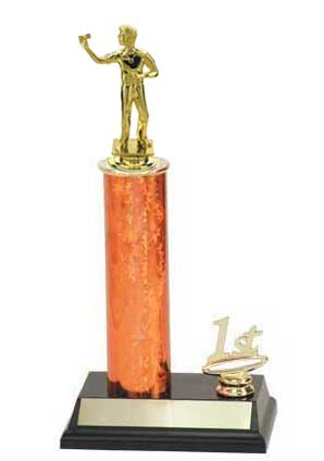 Single Column Dart Trophy with Trim Figure