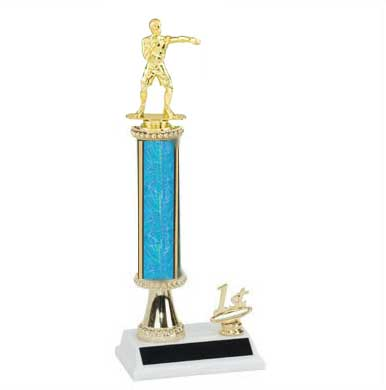 Boxing Trophies, Wrestling Trophies, Single Post Column, Trim Figure