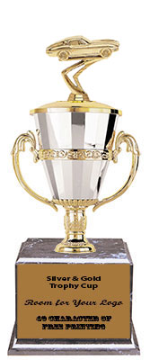 BMRC Corvette Cup Trophies with Three Size Options, and Two Corvette Topper Options