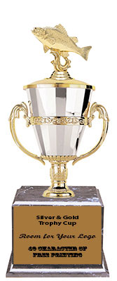 BMRC Crappie Cup Trophies with Three Size Options