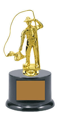 All Fishing Trophies have 40 Characters of FREE Printing, 8 fishing toppers to choose from.