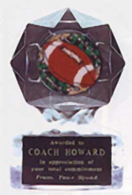 Acrylic Star Ice Football Trophy