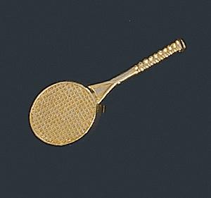 Tennis Letter Pin, Tennis Racquet Pin