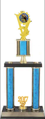 2DPSR Squirrel Hunt Trophies with double posts and stacked column design