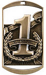 Dog Tag Placing Medals DT281-82-83 with Neck Ribbons