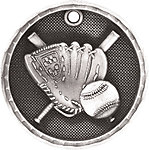 3D Baseball Medals 3D201 with Neck Ribbons