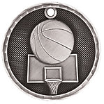 3D Basketball Medals 3D202 with Neck Ribbons