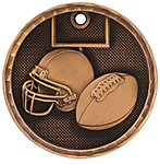3D Football Medals 3D206 with Neck Ribbons