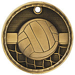 3D Volleyball Medals 3D216 with Neck Ribbons