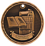 3D Reading Medals 3D309 with Neck Ribbons
