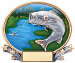 3D409 Bass Fishing Plaque Award