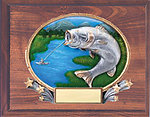 3D409 Fishing Plaque in Cherry Finish 3D-CF912