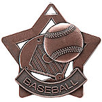 Star Baseball Medals XS204 with Neck Ribbons
