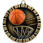 IM211 Colorful 3D Basketball Medals with Neck Ribbons
