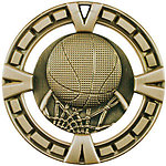 Big Basketball Medals BG403 with Neck Ribbons