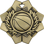 Imperial Basketball Medals 43605 with Neck Ribbons