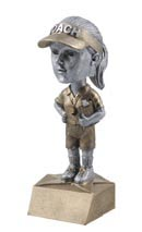 Female Coach Bobble Head Resin Trophy Statue BH 586