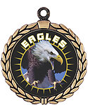 Eagle Mascot Medal HR905-630 with Neck Ribbon