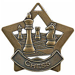 Star Chess Medals XS216 with Neck Ribbons