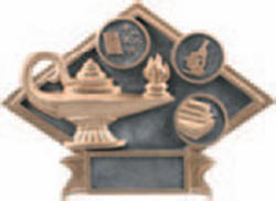 Lamp of Knowledge Resin Plaque Award