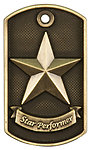 JDT212 Series Star Performer Dog Tag Medals