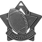 Star Football Medals XS207 with Neck Ribbons