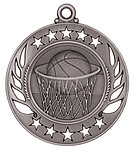 Galaxy Basketball Medals GM102 with Neck Ribbons