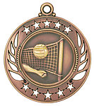 Galaxy Volleyball Medals GM117 with Neck Ribbons