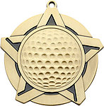 Golf Medals 43060 with Neck Ribbons